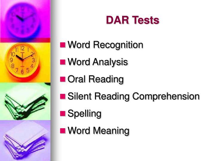DAR Tests