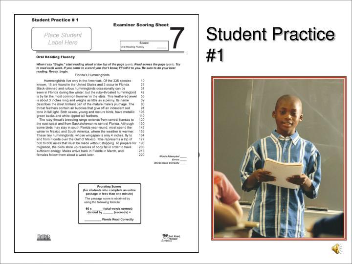 Student Practice #1