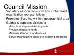 council mission