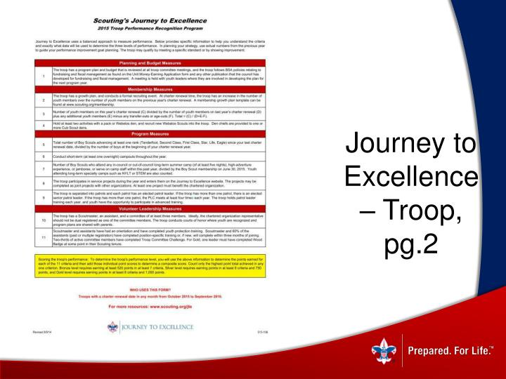 Journey to Excellence – Troop, pg.2