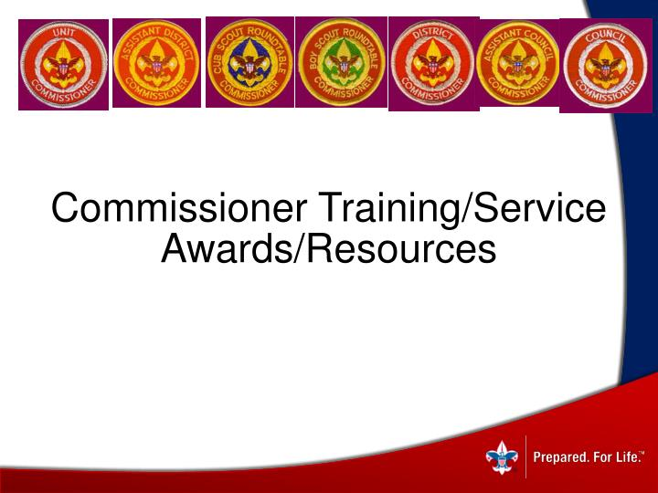 Commissioner Training/Service