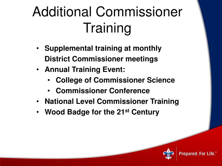 Additional Commissioner Training