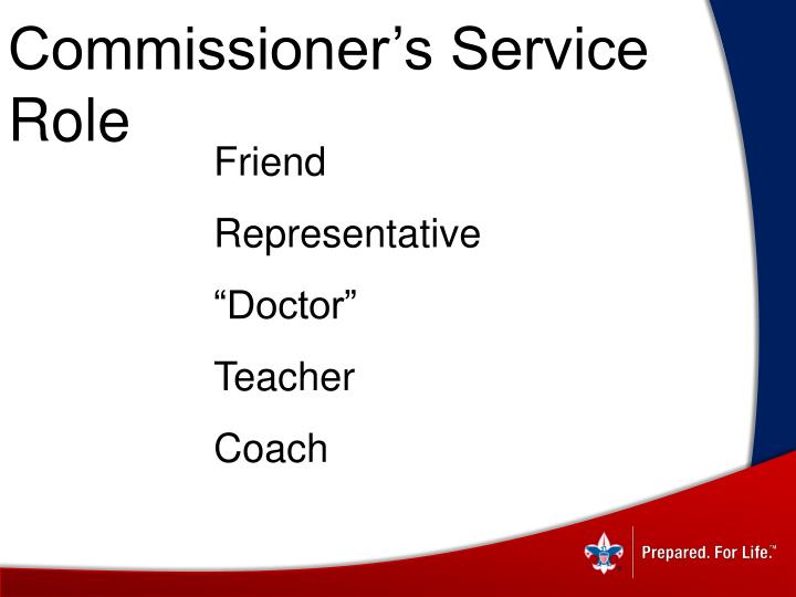 Commissioner's Service Role