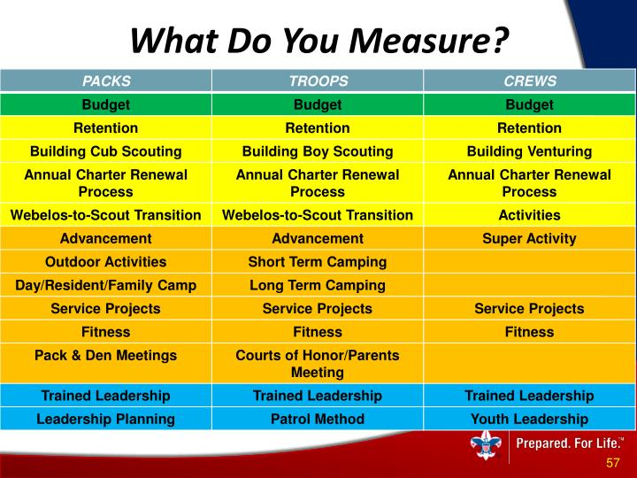 What Do You Measure?