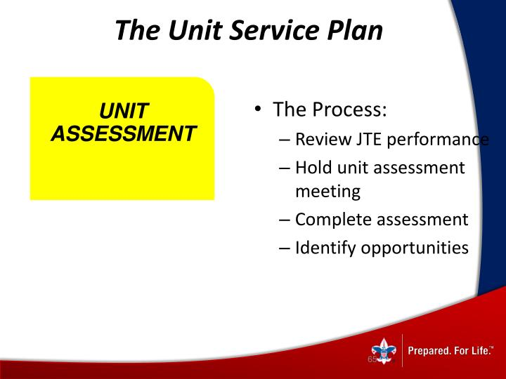 The Unit Service Plan