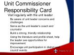 unit commissioner responsibility card1