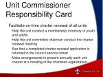unit commissioner responsibility card3