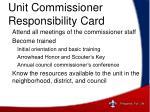 unit commissioner responsibility card4