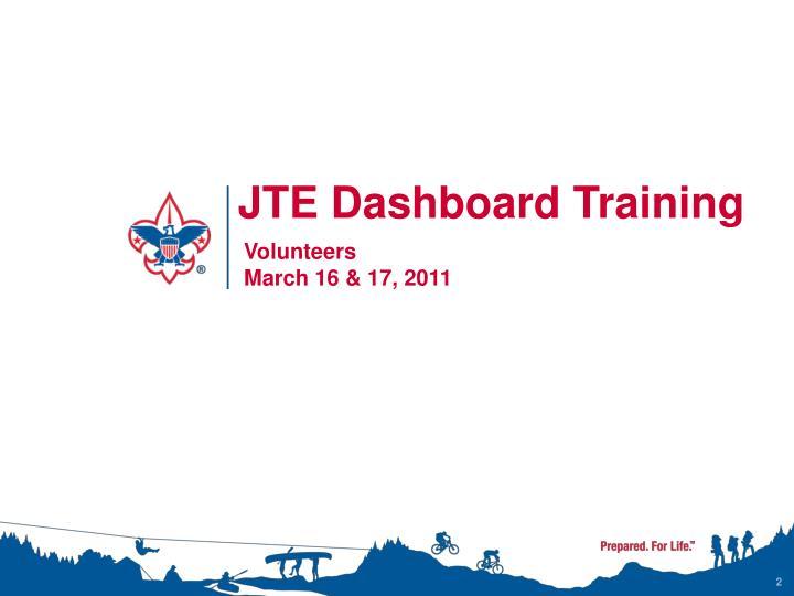JTE Dashboard Training