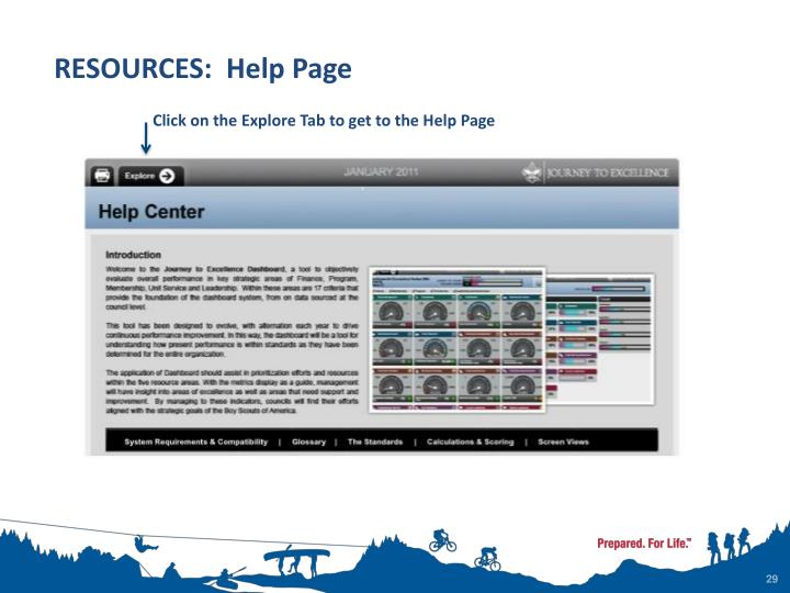 RESOURCES:  Help Page