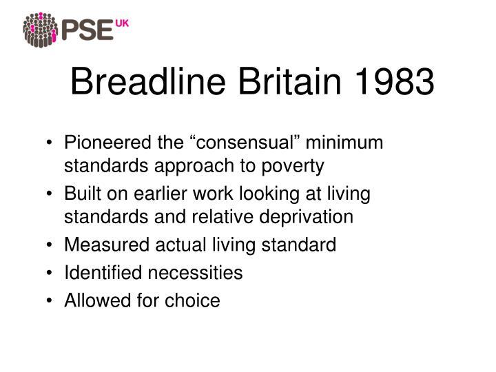 Breadline Britain 1983