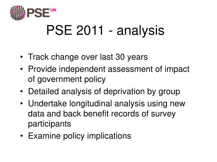 PSE 2011 - analysis