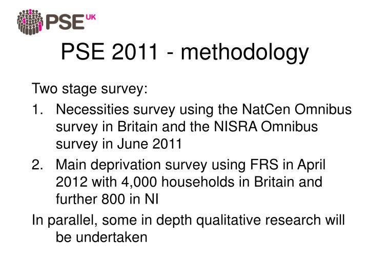 PSE 2011 - methodology