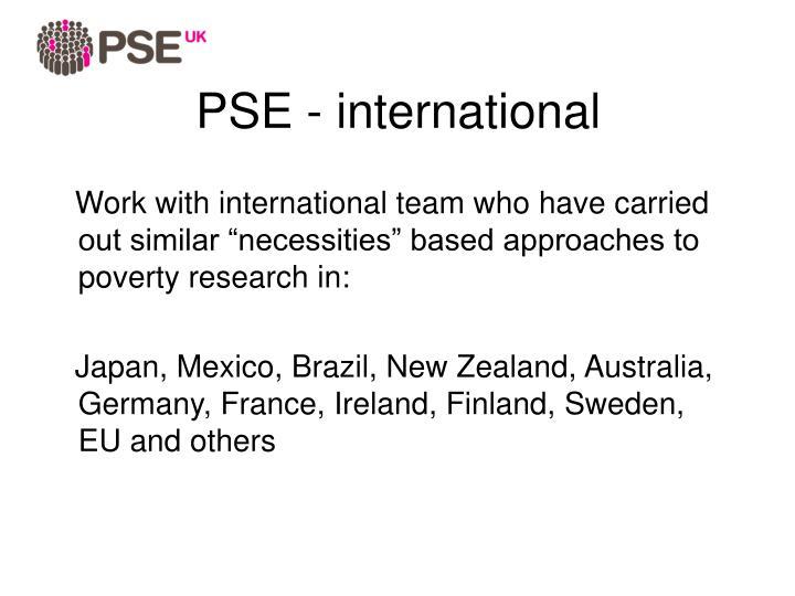 PSE - international