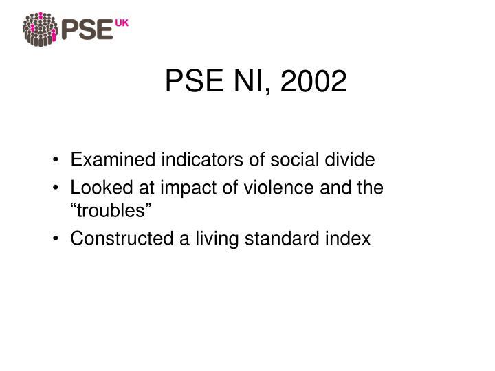 PSE NI, 2002