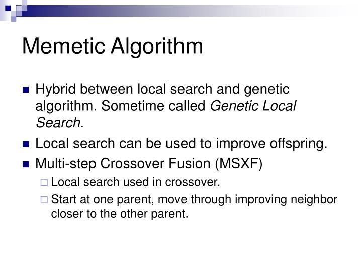 Memetic Algorithm