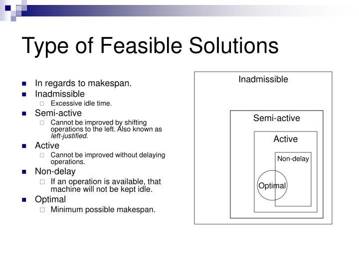 Type of Feasible Solutions