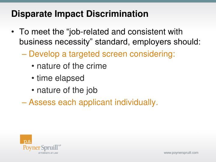 Disparate Impact Discrimination