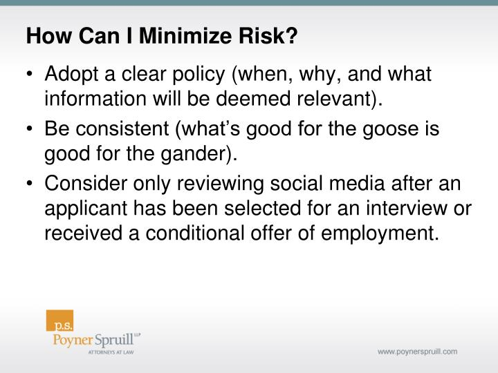 How Can I Minimize Risk?