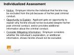 individualized assessment
