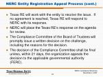 nerc entity registration appeal process cont