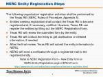 nerc entity registration steps