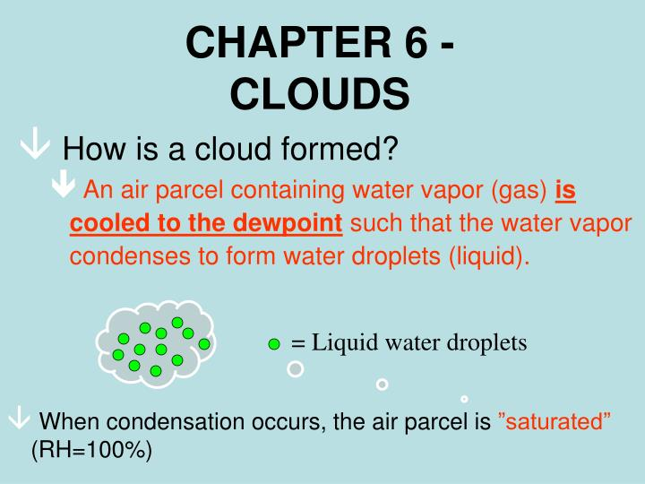 Chapter 6 clouds
