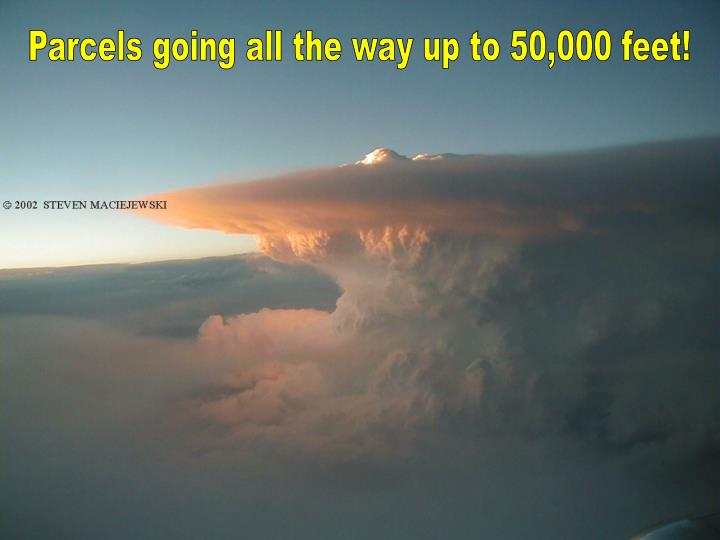 Parcels going all the way up to 50,000 feet!