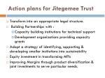 action plans for jitegemee trust