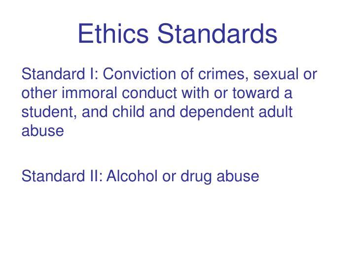 Ethics Standards