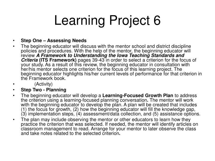 Learning Project 6