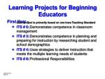 learning projects for beginning educators