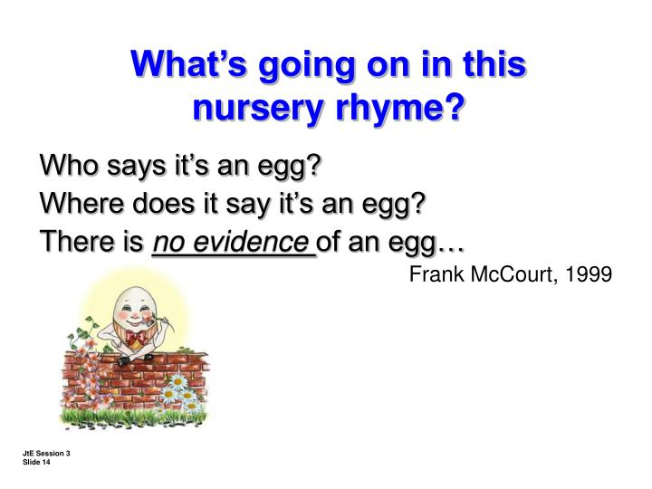 Who says it's an egg?