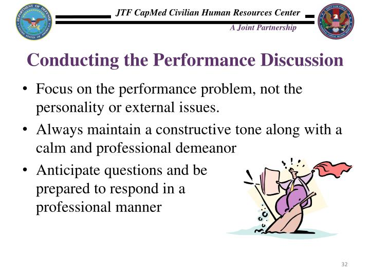 Conducting the Performance Discussion