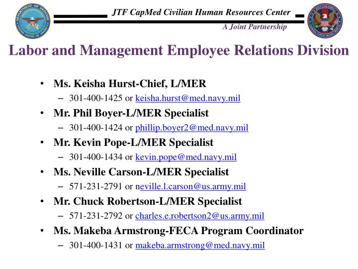 Labor and Management Employee Relations Division