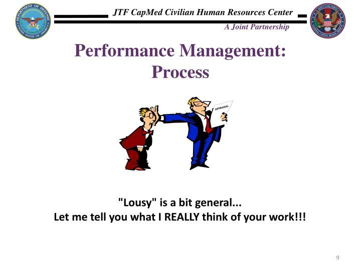 Performance Management: Process
