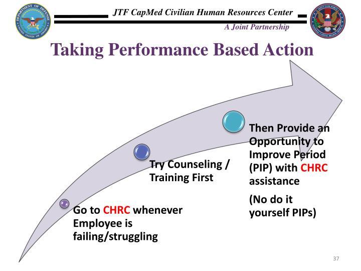 Taking Performance Based Action
