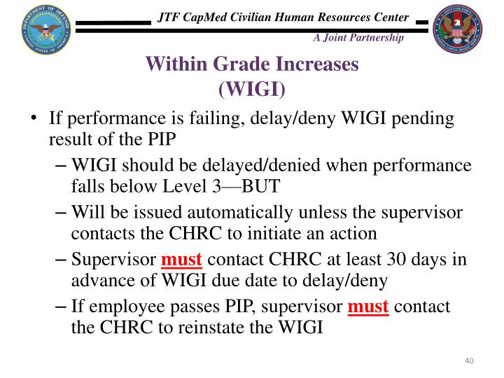 Within Grade Increases