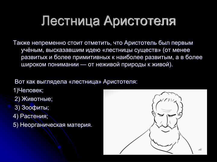 Лестница Аристотеля