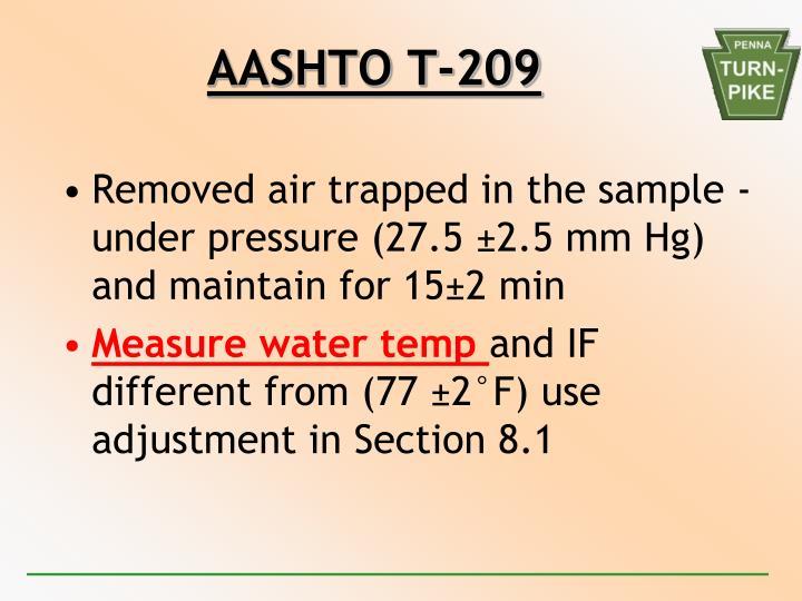 AASHTO T-209