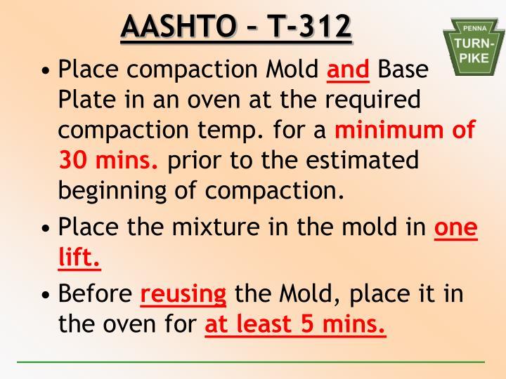 AASHTO – T-312