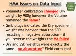 hma issues on data input1