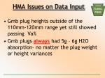 hma issues on data input3