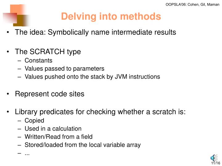 Delving into methods