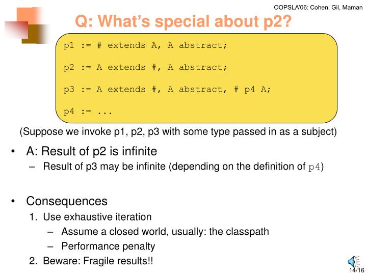 Q: What's special about p2?
