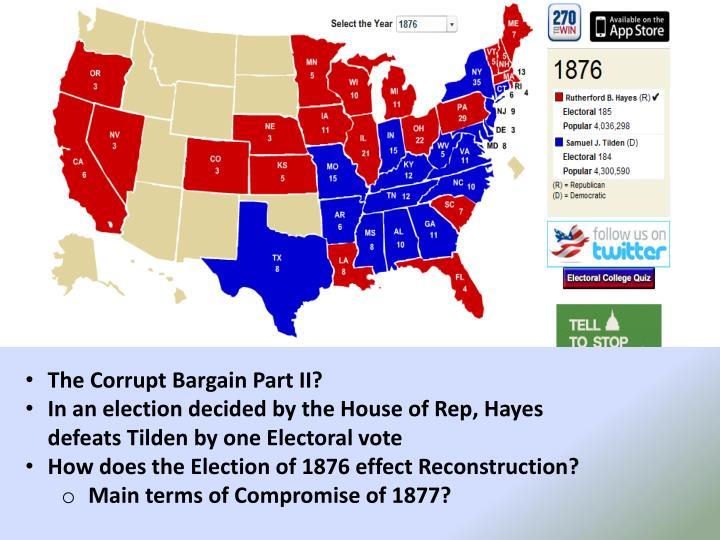 The Corrupt Bargain Part II?