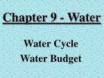 chapter 9 water