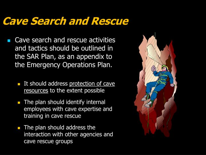 Cave Search and Rescue