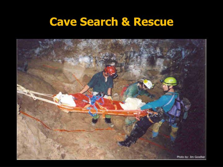 Cave search rescue