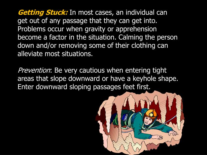 Getting Stuck: